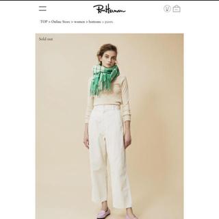 ロンハーマン(Ron Herman)の新品未使用 RH Vintage Painter Pants ホワイトSサイズ(カジュアルパンツ)