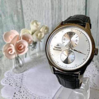 ヴィヴィアンウエストウッド(Vivienne Westwood)の【美品】vivienne ヴィヴィアン 腕時計 レギュレーター メンズ オーブ(腕時計(アナログ))