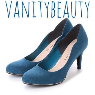 バニティービューティー(vanitybeauty)のvanity beauty【新品】スエード ヒール パンプス シューズ(ハイヒール/パンプス)