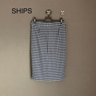 シップス(SHIPS)のSHIPS ギンガムチェックタイトスカート(ひざ丈スカート)