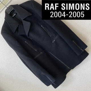 ラフシモンズ(RAF SIMONS)のレア◆RAF SIMONS◆2004-2005 WAVES期 ライダース コート(その他)