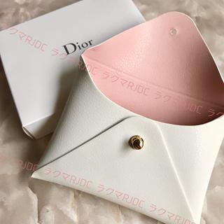 Christian Dior - 【新品箱有】ディオール レザー調 カードケース カードホルダー ポーチ 非売品