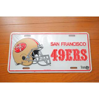 【週末値下】49ers ナンバープレート NFLコレクション 未開封(アメリカンフットボール)