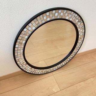 フランフラン(Francfranc)のフランフラン Francfranc  モザイク シェルウォールミラー 60cm(壁掛けミラー)