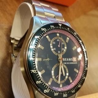 ビームス(BEAMS)の①BEAMS腕時計 クォーツ メンズ 腕まわり17センチ ケース40ミリ(腕時計(アナログ))
