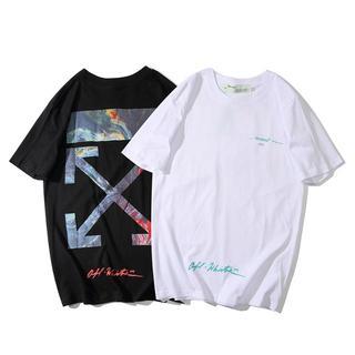 オフホワイト(OFF-WHITE)の【2枚7500円】OFF WHITEオフホワイト半袖Tシャツ 707(Tシャツ(半袖/袖なし))