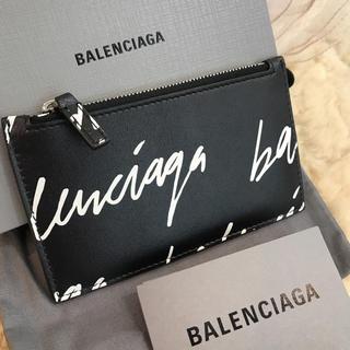 バレンシアガ(Balenciaga)の☆新品同様☆バレンシアガ コイン&カードケース グラフィティーロゴ(コインケース/小銭入れ)