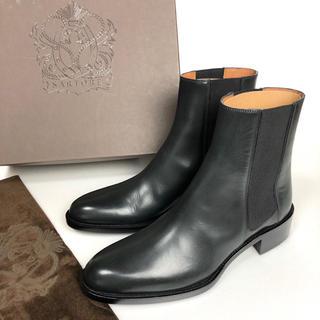 サルトル(SARTORE)の37 SARTORE サルトル サイドゴア ショートブーツ 黒 ネイビー 24(ブーツ)