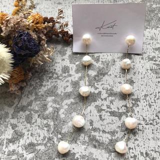 カスタネ(Kastane)の【PPC-1】long fresh pearl pirce(ピアス)
