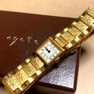 アガット(agete)のagete 腕時計 完売 大人気 クラシック ゴールド(腕時計)