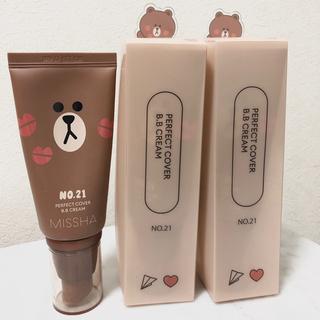 チャアンドパク(CNP)の新品未使用 ミシャ BBクリーム 3本 5100円→2100円(化粧下地)