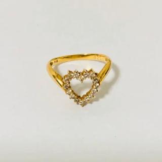 ミキモト(MIKIMOTO)の値下げ済 美品 K18 ミキモトリング 金 指輪 ダイヤ 10.5号(リング(指輪))