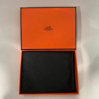 エルメス(Hermes)の新品、未使用 エルメス ポーカー マネークリップ エプソン 黒×黒(折り財布)