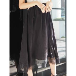 リゼクシー(RESEXXY)のRESEXXY 裾レースフレアスカート(ロングスカート)