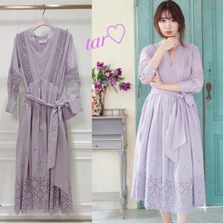 フレイアイディー(FRAY I.D)のherlipto Belted Embroidered Cotton Dress(ロングワンピース/マキシワンピース)