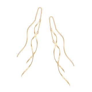 ジュエリーツツミ(JEWELRY TSUTSUMI)のジュエリーツツミ K10イエローゴールドウェーブチェーンロングピアス(ピアス)