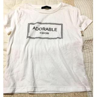 ミスティウーマン(mysty woman)の白色ロゴTシャツ★(Tシャツ(半袖/袖なし))