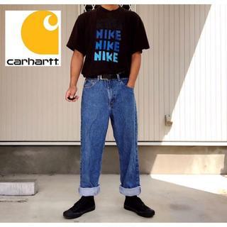 carhartt - 【カーハート】希少メキシコ製 90s〜 デニムパンツ ジーンズ 革ロゴ W34