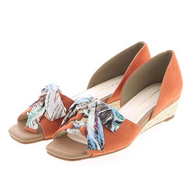 JELLY BEANS(ジェリービーンズ)のスカーフリボン付きセパレートサンダル レディースの靴/シューズ(サンダル)の商品写真