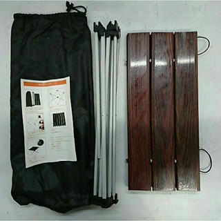 ロールテーブル 折畳テーブル 木目(ローテーブル)
