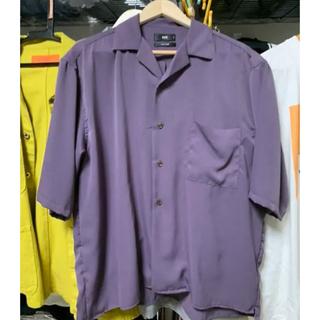 ハレ(HARE)の[美品] ハレ HARE オープンカラーシャツ 半袖 紫 パープル(シャツ)