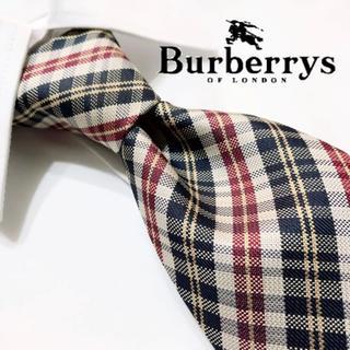 BURBERRY - 【極美品!人気ブランド!ホースロゴ!】Burberrys最高級シルクネクタイ!