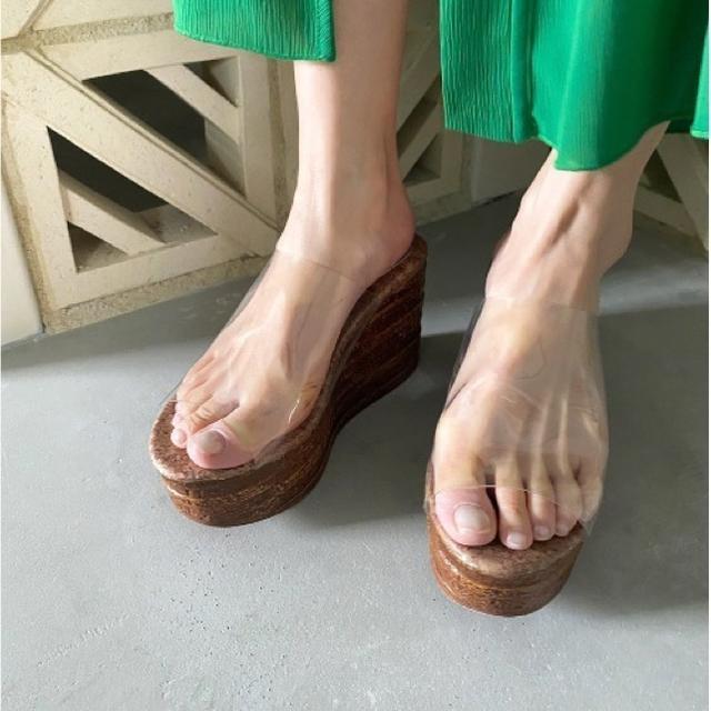 Ameri VINTAGE(アメリヴィンテージ)のAmeri MEDI CLEAR WEDGE SOLE SANDAL レディースの靴/シューズ(サンダル)の商品写真