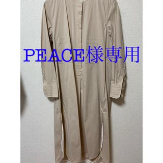 シップス(SHIPS)の【TICCA】ノーカラー シャツドレス WOMEN(ひざ丈ワンピース)