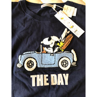 ハリウッドランチマーケット(HOLLYWOOD RANCH MARKET)のANTIBALLISTIC アンティバルリスティック スヌーピー刺繍ワンピース(ひざ丈ワンピース)