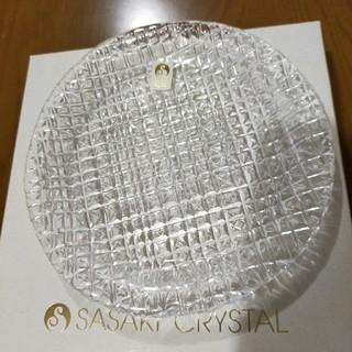 トウヨウササキガラス(東洋佐々木ガラス)のSASAKI CRYSTAL 最高級フルレッド皿5枚セット(食器)