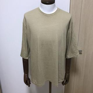 コモリ(COMOLI)のオーラリー 七分袖カットソー ベージュ(Tシャツ/カットソー(七分/長袖))