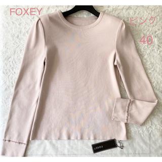 フォクシー(FOXEY)のFOXEY Simple Long Sleeve 40 フォクシー ニット(ニット/セーター)