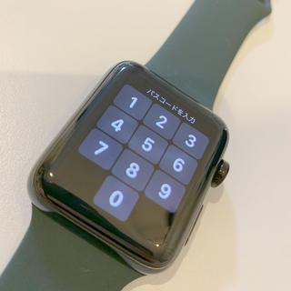 アップルウォッチ(Apple Watch)のApple Watch Series 3 セルラー ステンレス 42(腕時計(デジタル))