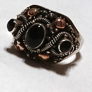 バリシルバー オニキス 指輪 リング(リング(指輪))