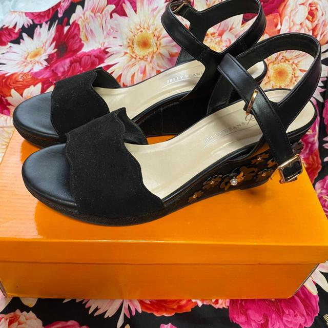 JELLY BEANS(ジェリービーンズ)のジェリービーンズ mixフラワーサンダル レディースの靴/シューズ(サンダル)の商品写真