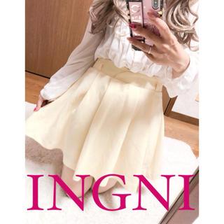 イング(INGNI)の2492.INGNI ゆるプリーツ フレア ミニスカート キュロット(キュロット)