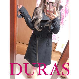 DURAS - 2498.DURAS トレンチコート ブラック