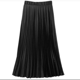 UN3D レザープリーツスカート(ロングスカート)
