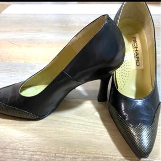 レディース靴 パンプス RICHAROハイヒール ブラック  21.5cm(ハイヒール/パンプス)