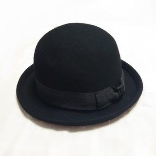 ディーホリック(dholic)の【新品】ボーラーハット ブラック 帽子 超特別価格(ハット)