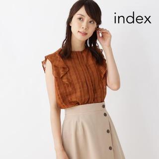 インデックス(INDEX)のindex インナー付きシアードットブラウス ブラウン(シャツ/ブラウス(半袖/袖なし))
