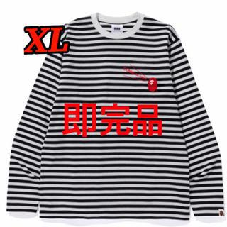 アベイシングエイプ(A BATHING APE)の黒 XLサイズ Bape×CDG大阪限定 エイプ コムデギャルソン ロンTee(Tシャツ/カットソー(七分/長袖))