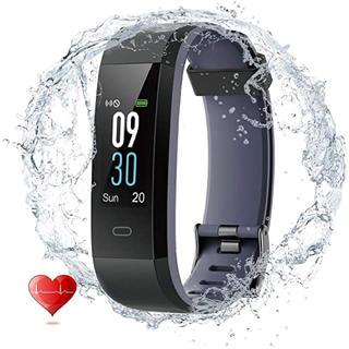 ⭐最新版⭐スマートウォッチ 心拍計 活動量計 P68完全防水 電話着信 通知 (腕時計(デジタル))