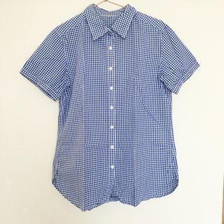 ムジルシリョウヒン(MUJI (無印良品))のMUJI 無印良品 チェックシャツ 半袖シャツ ギンガムチェック Mサイズ(シャツ/ブラウス(半袖/袖なし))