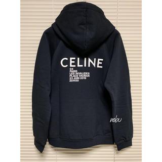 セリーヌ(celine)の新品【 CELINE 】インビテーションプリント フーディー XL パーカー(パーカー)