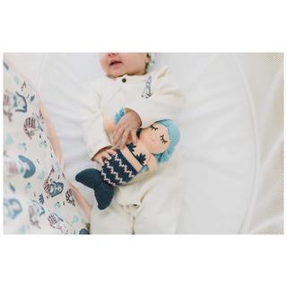 キャラメルベビー&チャイルド(Caramel baby&child )のFinn + Emma オーガニックコットンニット ラトル- Mermaid(がらがら/ラトル)
