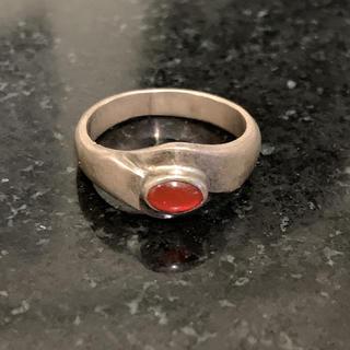 シルバーリング 赤い石(リング(指輪))