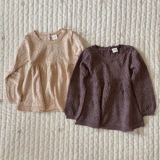 プティマイン(petit main)のteteatete テータテート ニットトップス(Tシャツ/カットソー)