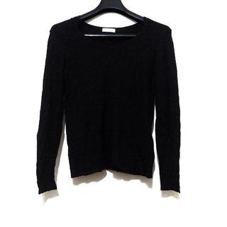 ランバンオンブルー(LANVIN en Bleu)のランバンオンブルー 長袖セーター 黒(ニット/セーター)