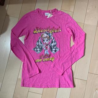 ディーゼル(DIESEL)の新品 ディーゼル  DIESEL ロンT サイズ12 ピンク 140 (Tシャツ/カットソー)